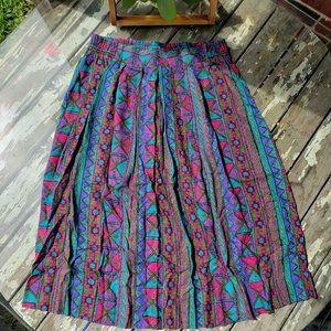 Vintage Geometric Skirt waist 30 Norton McNaughton